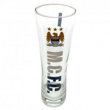 Manchester City Tall Beer Glass.